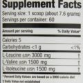 Ultimate Nutrition BCAA Powder, 1 lb suplement facts