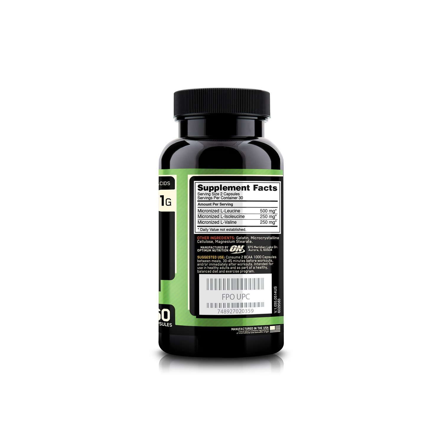 ON-Optimum-Nutrition-BCAA-60-capsules-By-Bright-Commodities suppliments facts