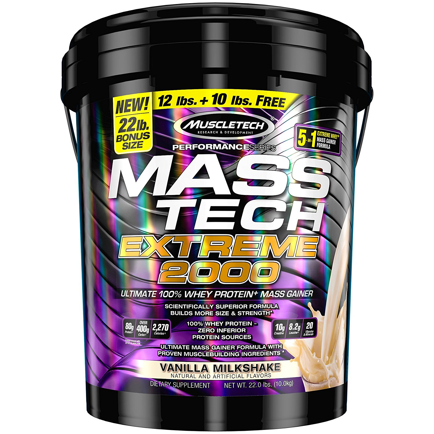 MuscleTech Mass Tech Extreme 2000, 22 lbs