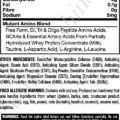 Mutant Amino Tablets 300 tablet(s) Unflavoured+Free Mutant IsoSurge Sample Nutritional facts