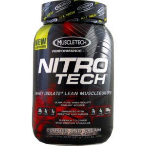 MuscleTech Nitrotech Performance Series, Cookies and Cream