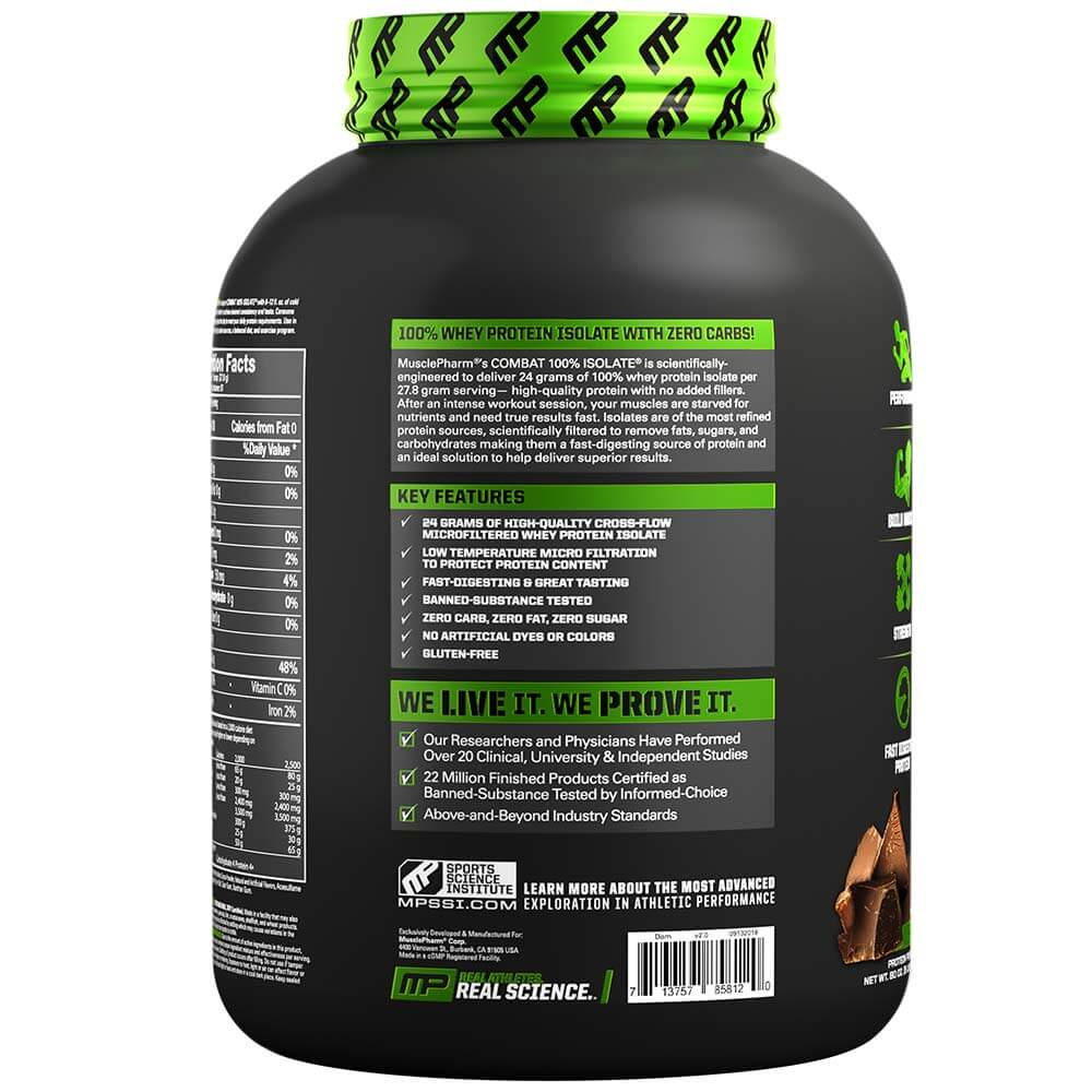 MusclePharm Combat Isolate, 5 lb- chocolate-2