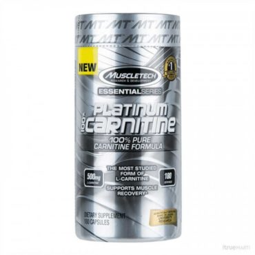 Muscletech Platinum essential 100% Carnitine 180 Caps
