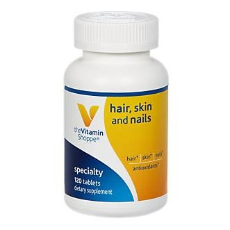 The Vitamin Shoppe Skin-Hair-Nails, Unflavoured 120 tablet(s)