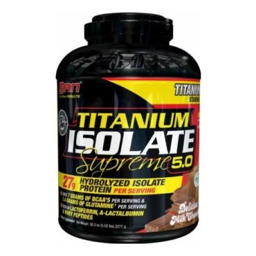 SAN Titanium Isolate Supreme 5 lb Delicious Milk Chocolate