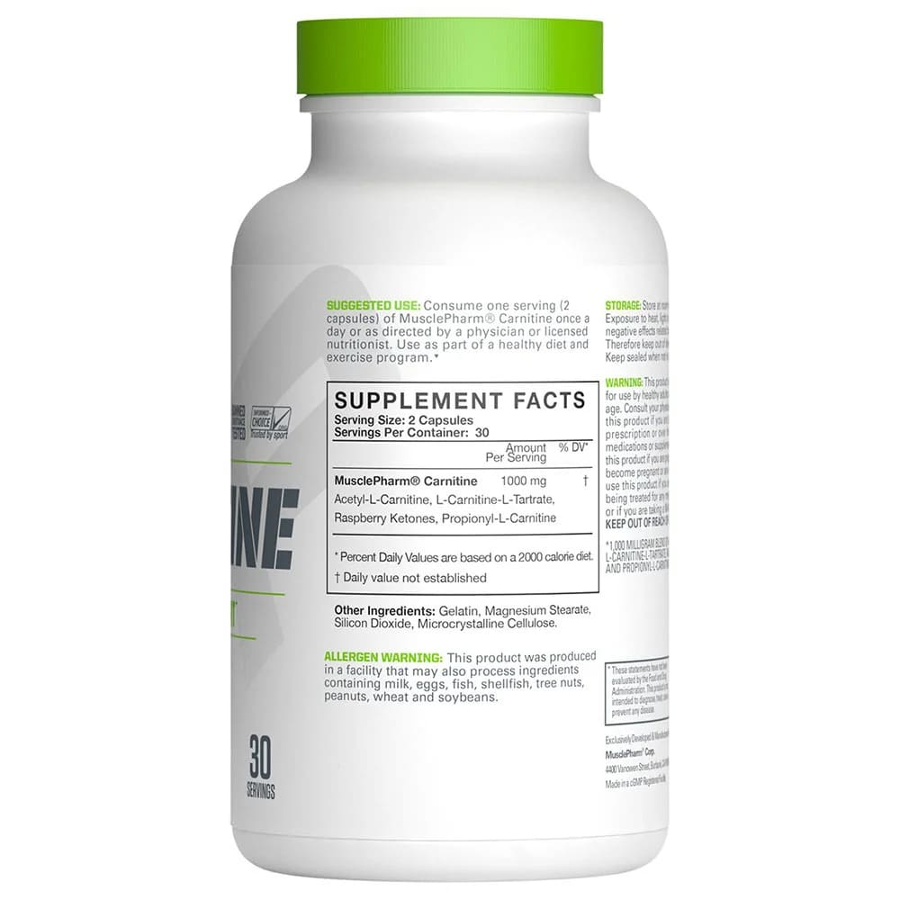 MusclePharm Carnitine Core 60 Capsules-1