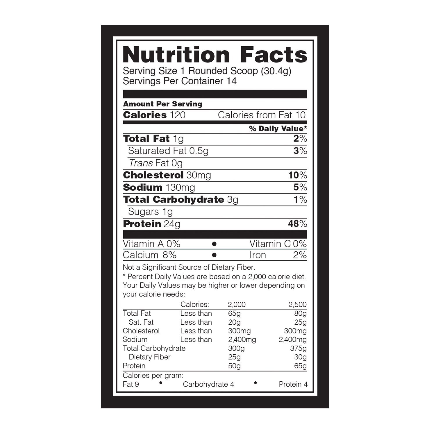 ON-Optimum-Nutrition-Gold-Standard-100-Whey-Protein-1Lb suppliments facts