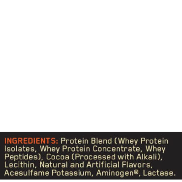 ON (Optimum Nutrition) Gold Standard 100% Whey Protein 2Lbs ingredients
