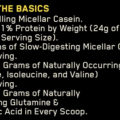 ON (Optimum Nutrition) Gold Standard 100% Casein 2 LBS supplement facts