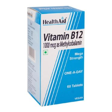 HealthAid Vitamin B12 (1000 mcg), Unflavoured 60 tablet(s)