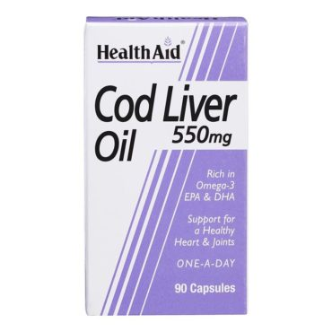 HealthAid Cod Liver Oil (550 mg), 90 capsules