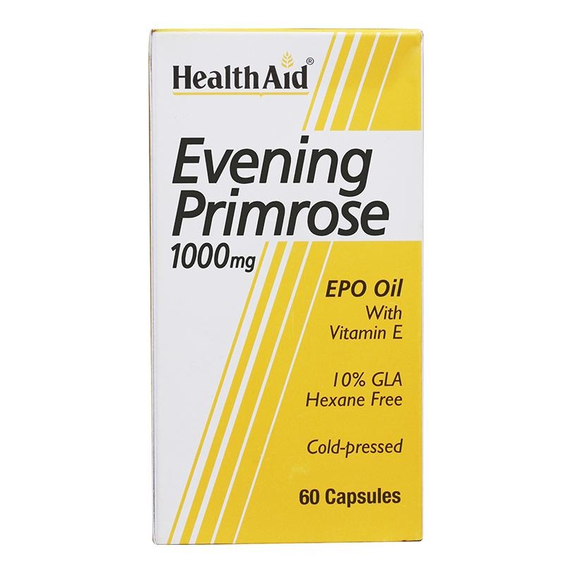 HealthAid Evening Primrose Oil With Vitamin E (1000 mg), 60 capsules