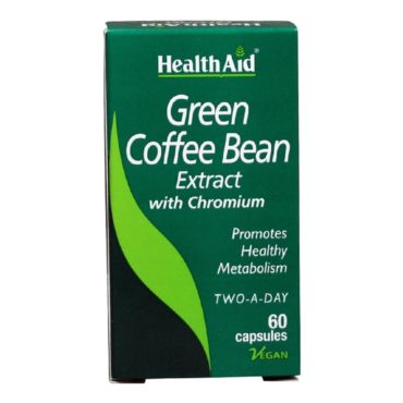 HealthAid Green Coffee Bean Extract with Chromium, 60 capsules