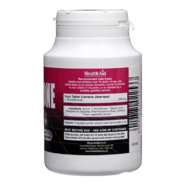 HealthAid L-Glutathione (250 mg), 60 tablet(s) supplement facts