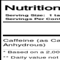 Allmax-Caffeine-100-tablets-Unflavoured supplement facts