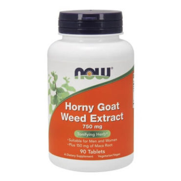 Now Horny Goat Weed Extract (750 mg), 90 tablet(s)