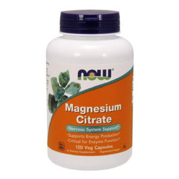 Now Magnesium Citrate (500mg), Unflavoured 120 veggie capsule(s)