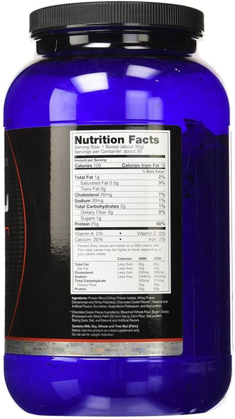 Ultimate Nutrition Prostar 100% Whey Protein, 2 lb supplement facts