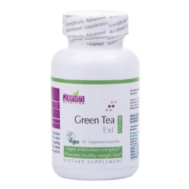 Zenith Nutrition Green Tea Extract (250 mg), 60 capsules Unflavoured