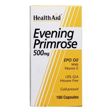 HealthAid Evening Primrose Oil With Vitamin E (500 mg), 180 capsules