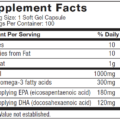 Muscletech Essential 100% Fish Oil 100 Caps supplement facts