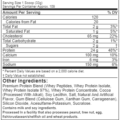 Muscletech Nitrotech 100% Whey Gold 8LBS supplements facts