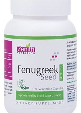 Zenith Nutrition Fenugreek Seed - 1020Mg- 180 Capsules