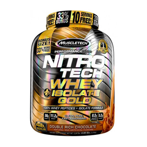 Muscletech Nitrotech Whey Plus Isolate Gold 4 LBS