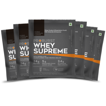 Proburst Whey Supreme Traveller Pack, 33 g (pack of 6) Double chocolate