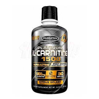 Muscletech Essential Platinum 100% L-Carnitine 473 ml 1500 mg 30 Ser