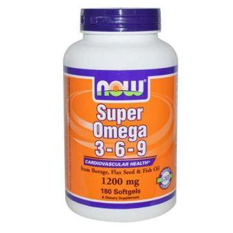 Now Super Omega 3-6-9, 180 softgels