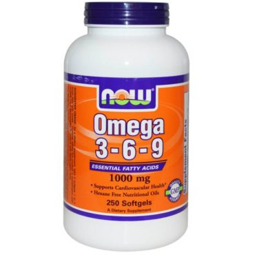 Now Omega 3-6-9 (1000 mg), 250 softgels