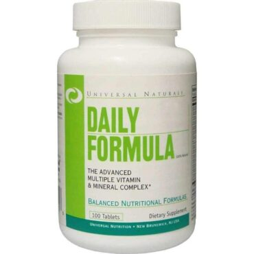 Universal Nutrition Daily Formula, Unflavoured 100 tablet's