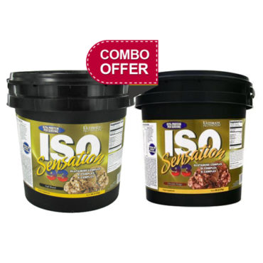 Ultimate Nutrition ISO Sensation 93 5lb Chocolate Fudge+5lb Cafe Brazil