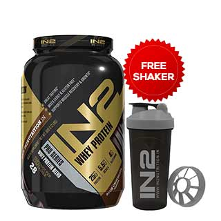 IN2 Mass Gainer Rich Chocolate 1.2 kgs (2.64lbs) Free Shaker