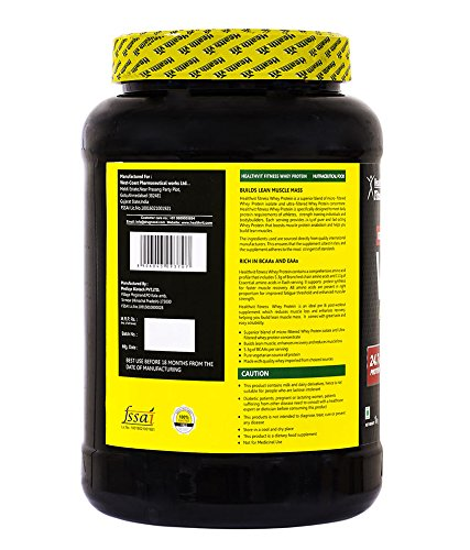 Healthvit-100-Ultra-Premium-Whey-Protein-2.2-lbs nutritional facts