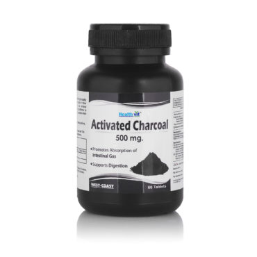Healthvit Activated Charcoal (500mg), 60 tablet(s)
