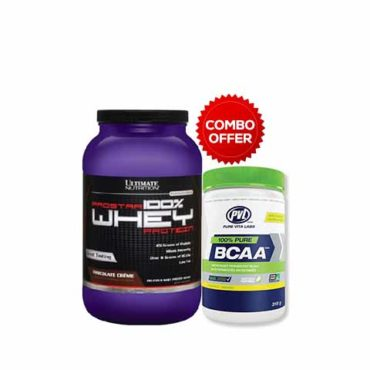 Ultimate Nutrition Prostar 100% Whey Protein, 2 lb + Free PVL BCAA Tropical punch 30 servings