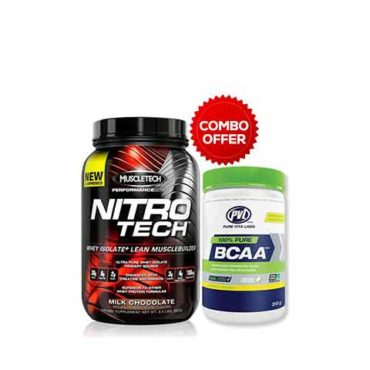 MuscleTech Nitrotech Performance Series 2 Lbs + Free PVL BCAA Tropical Punch 30 servings