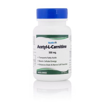 Healthvit-Acetyl-L-Carnitine-500-mg-60-capsules-Unflavoure
