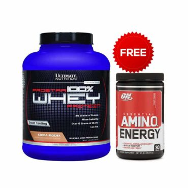 Ultimate Nutrition Prostar Cocoa Mocha + Optimum Nutrition amino energy 30 serving combo_offer_2