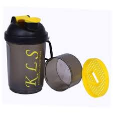 GHC 2-Compartment Shaker Bottle,600 ml