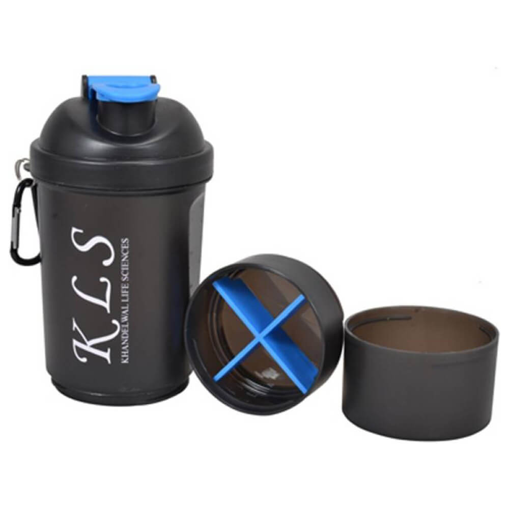 GHC Shaker Bottle 3-Compartment , 600 ml