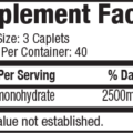 Muscletech Essential Platinum 100% Creatine 2500 120 Caps supplements fact