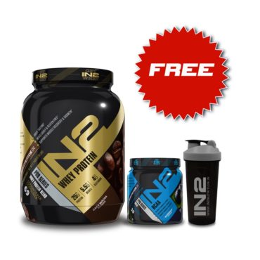 IN2 Whey Protein 5 Lbs Cafe Mocha + IN2 Free BCAA 300g + Free Shaker