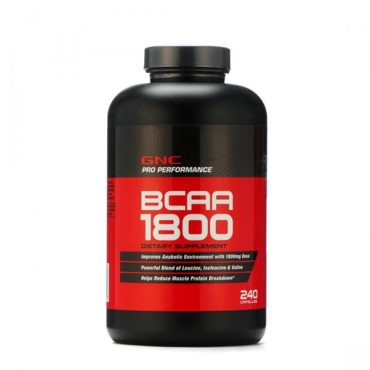 GNC BCAA Post Workout Supplement 1800, 240 Softgel Capsules