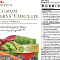 GNC Maximum Green Complete 90 Tablets supplements facts