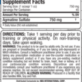Allmax Agmatine Plus Sulfate 34g supplements facts