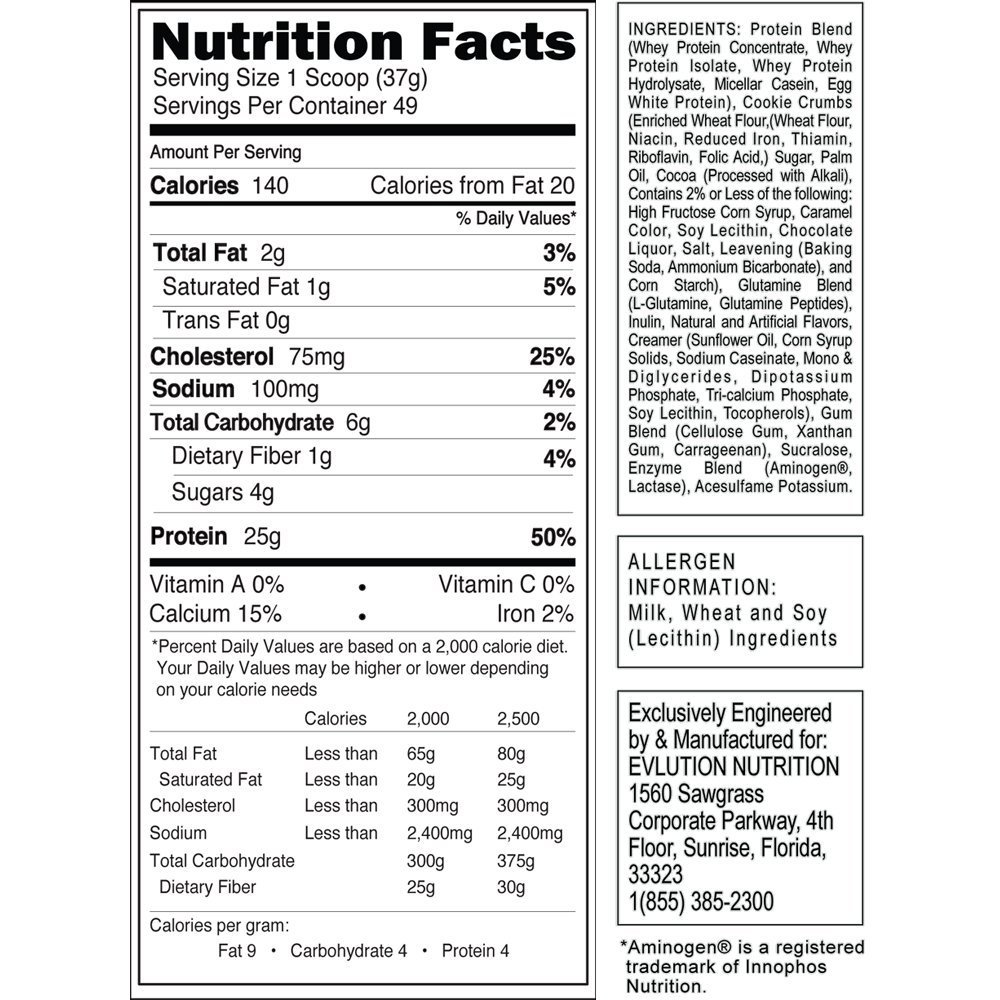 EVL-Stacked-Protein-4-lb-Nutritional facts