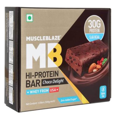 MuscleBlaze Hi-Protein Bar (30g Protein), 6 Piece(s)/Pack Choco Delight